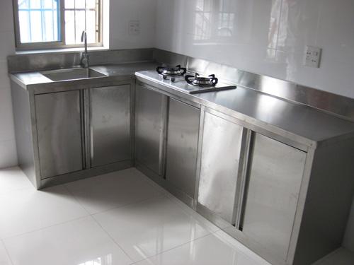 mặt bàn inox làm cho bàn bếp